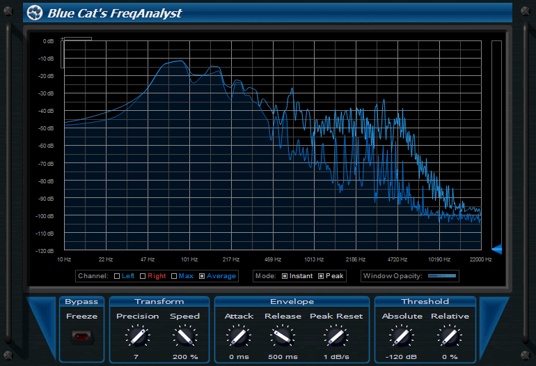 Blue Cat's FreqAnalyst (64-bit) - spectrum analyzer vst
