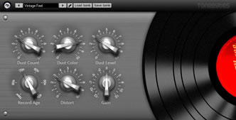 Vinyl vst - noise and frequency response of old recordings